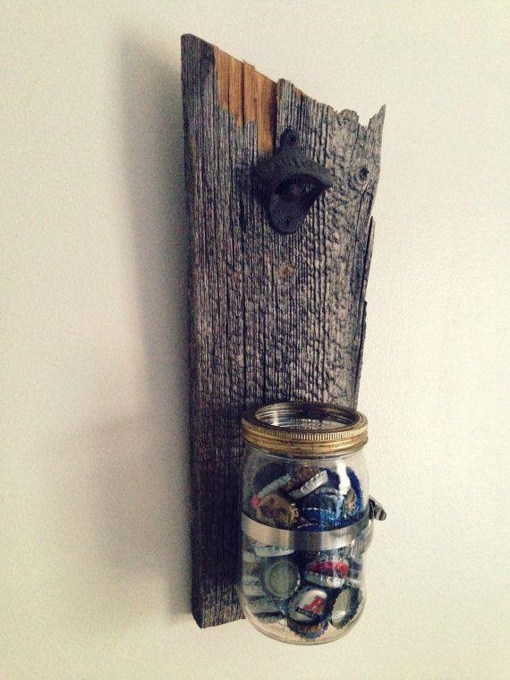 Ouvre bouteille mural d capsuleur antique par for Decapsuleur mural biere