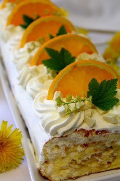 Appelsiini-Valkosuklaakääretorttu - Kiitos Mia! #mitätahansaleivotkin #leivojakoristele #droetker #kääretorttu #leivonta
