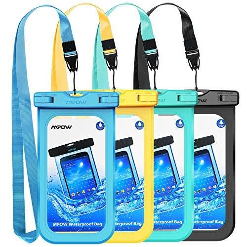 7786e45513 Mpow Waterproof Phone Pouch, IPX8 Universal Waterproof Case Underwater Dry  Bag 4-Pack Compatible for iPhone X/8/8P/7/7P, Galaxy S9/S9P/S8/Note 8, ...