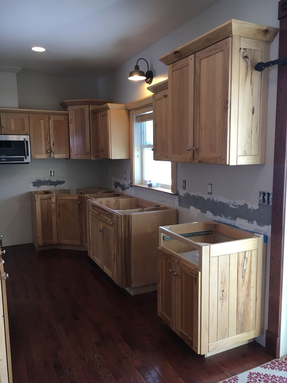 Kitchen Reno Hickory Cabinets Muebles De Cocina Rusticos Hacer Muebles De Cocina