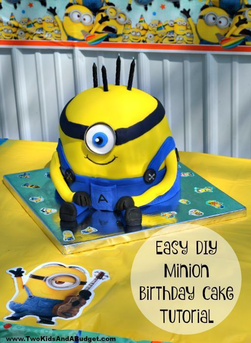Easy DIY Minion Birthday Cake Birthday cakes Birthdays and Cake
