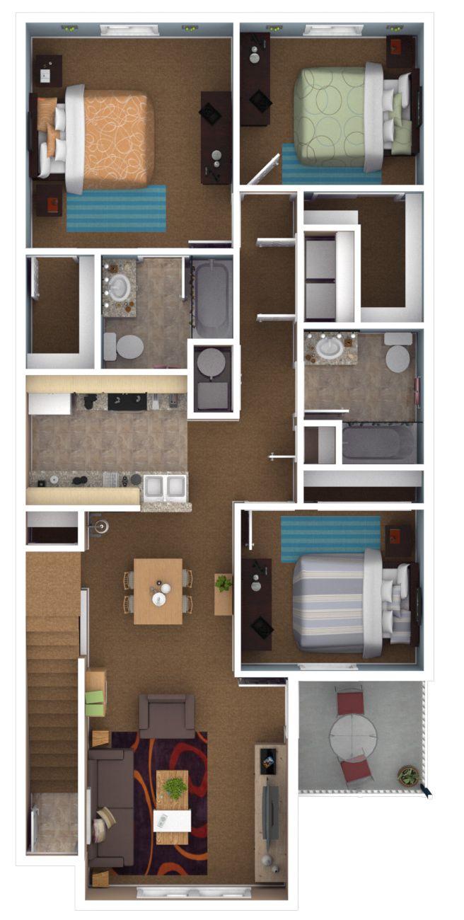 3 bedroom  2 bath  1194 sq ft    Canterbury Apartments. 3 bedroom  2 bath  1194 sq ft    Canterbury Apartments  Newburgh