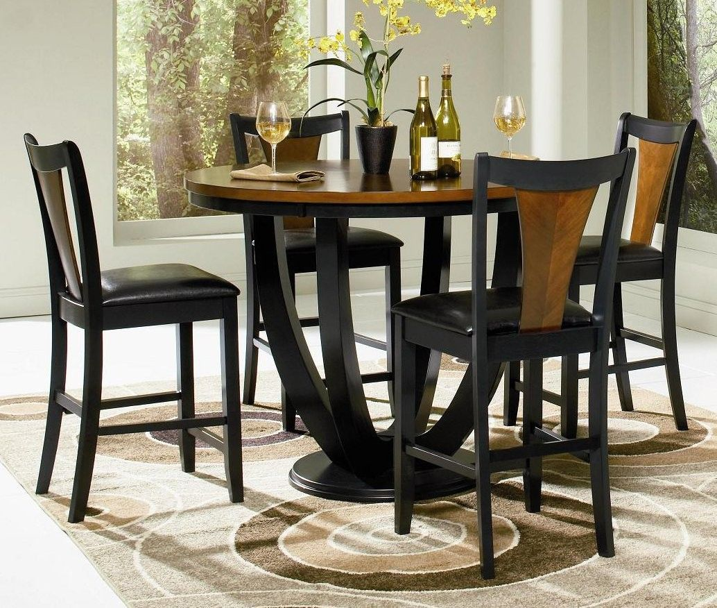 Round Counter Height Dining Sets | Boyer 5 Piece Contemporary Round Counter  Height Dining Table Set