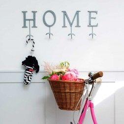 HOME Letter Hooks Set Grey