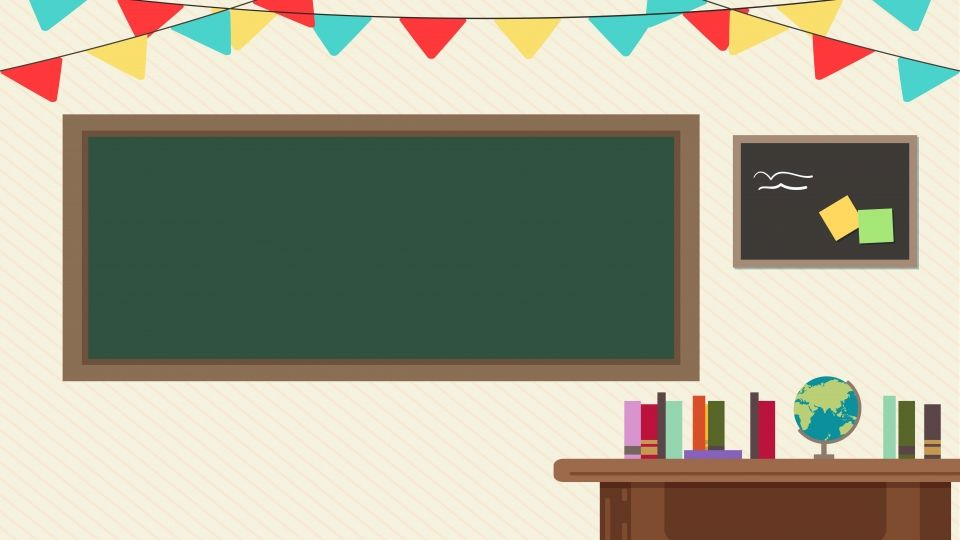 Cartoon Fresh Classroom Background Illustration