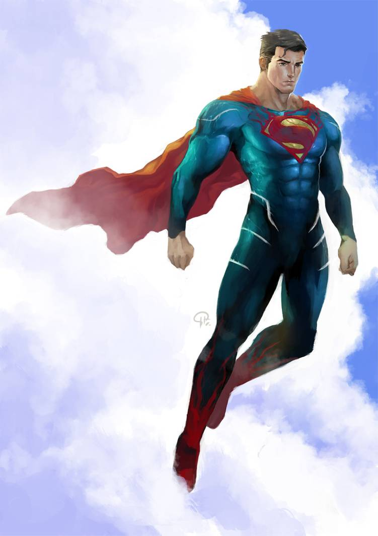 Superman Reimagined Redraw By Hifarry On Deviantart Superman Artwork Dc Comics Heroes Superman Wallpaper