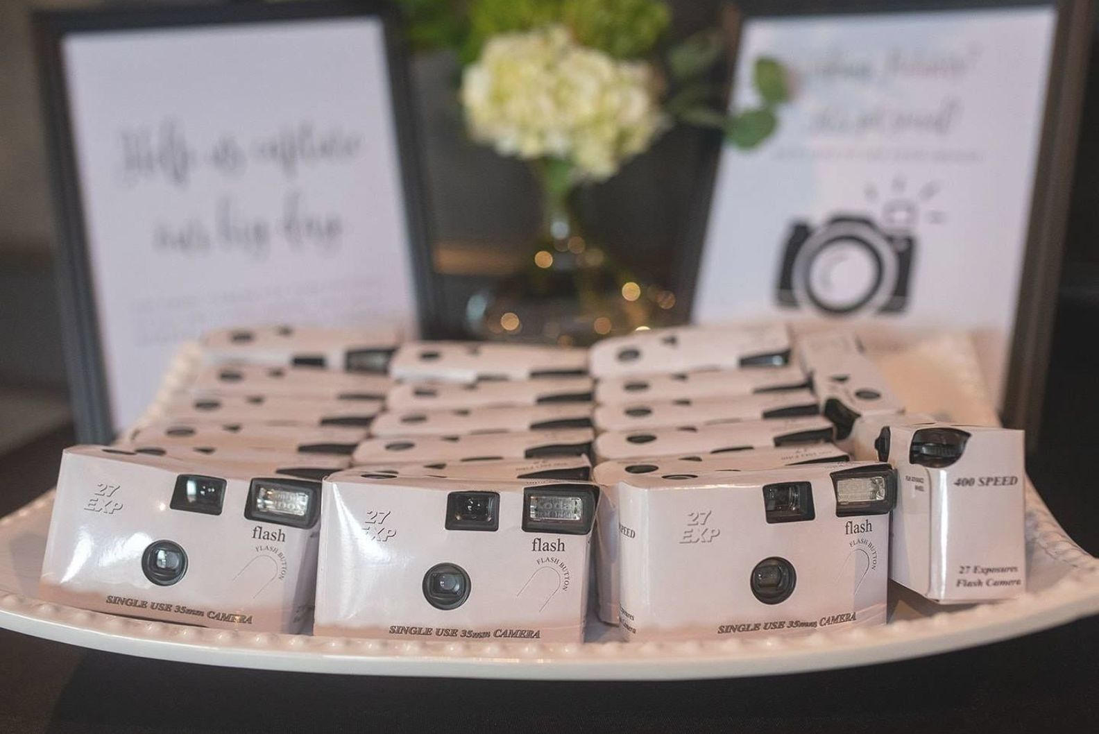 Disposable Cameras Instead Of A Photo Booth Wedding Fun Reception Photos In 2020 Disposable Camera Wedding Wedding Camera Photo Booth Alternative