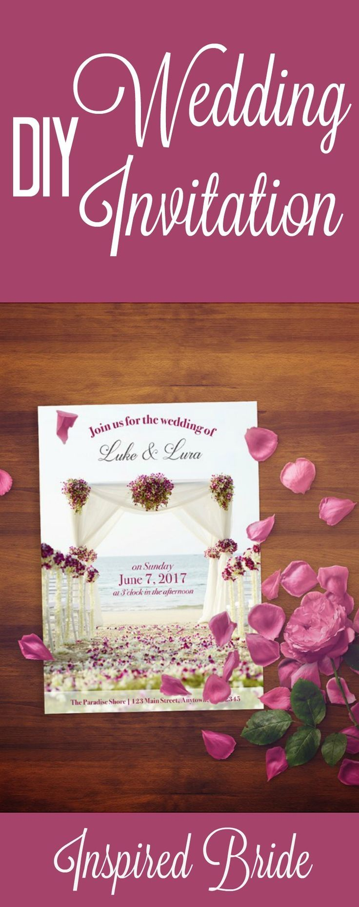 How to Design and Print Your Own Wedding Invitations | Pinterest ...