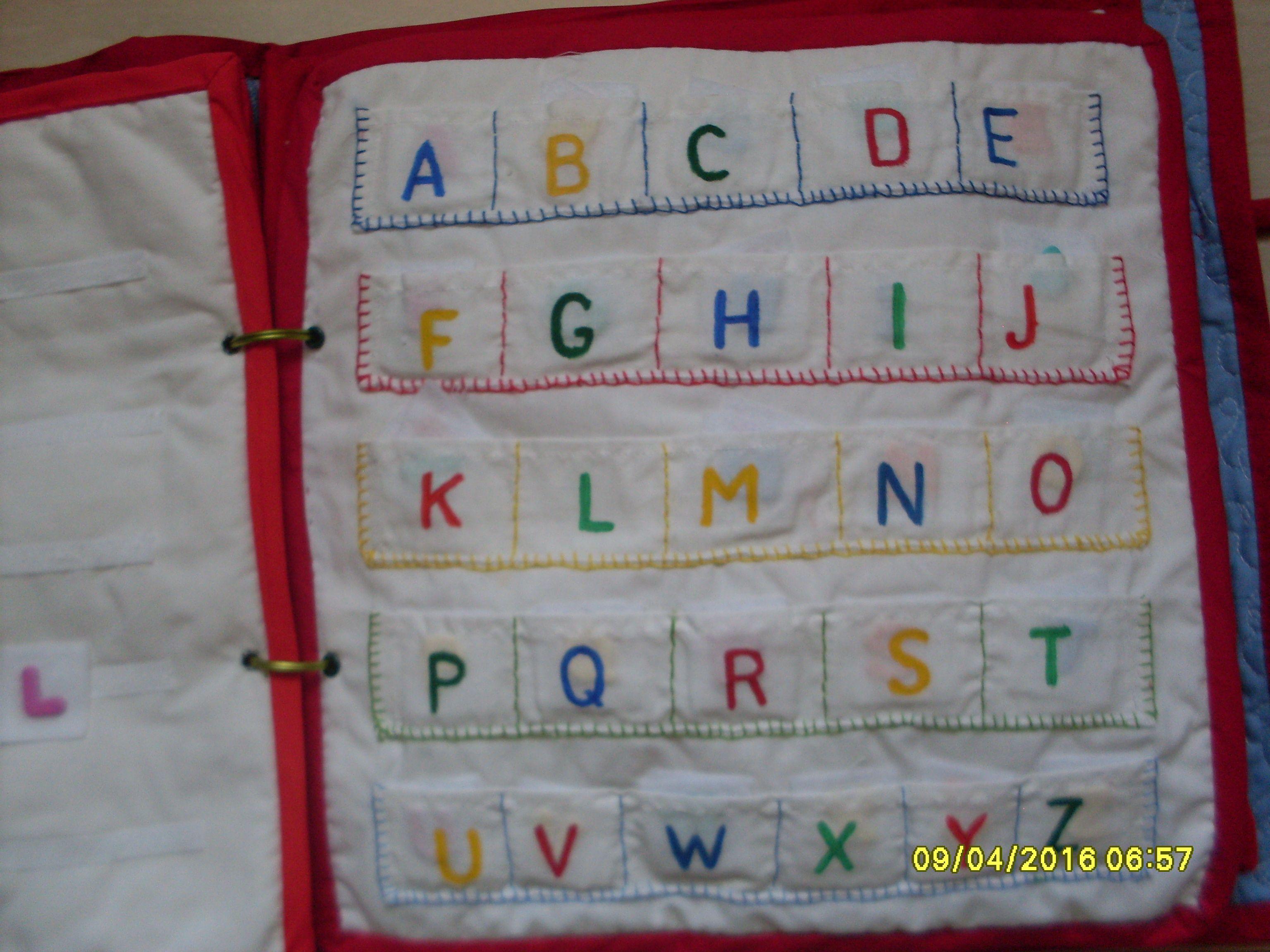 Alphabet Quiet Book Page