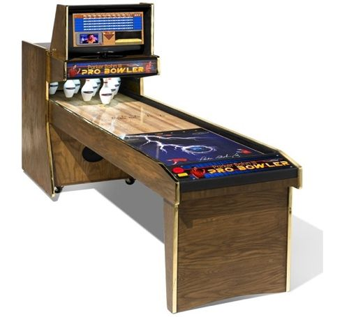 Console bowling of retro-style for houses
