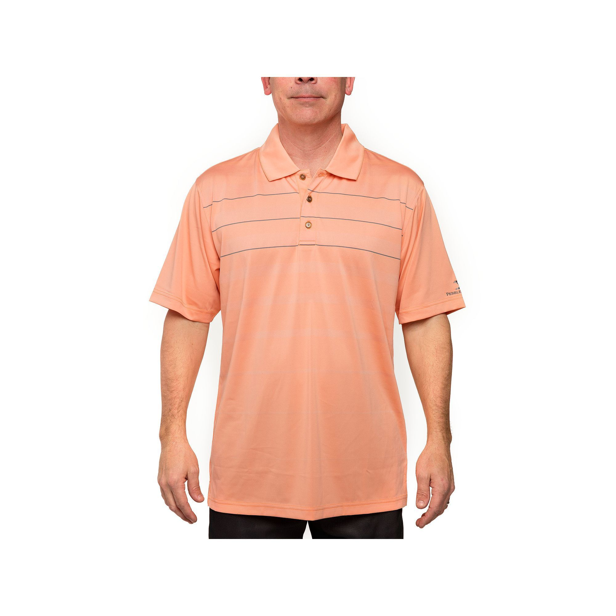 441c5e9a42 Men's Pebble Beach Classic-Fit Gradient-Striped Performance Golf Polo, Drk  Orange