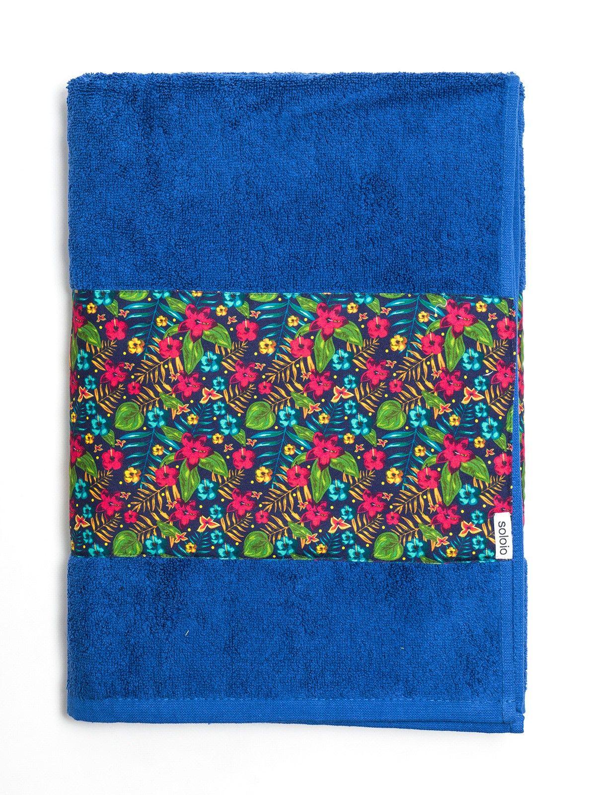 http://www.soloio.com/swim-summer/toalla-azul-algodon-estampada-flores-tropicales-verde-rosa-turquesa.html