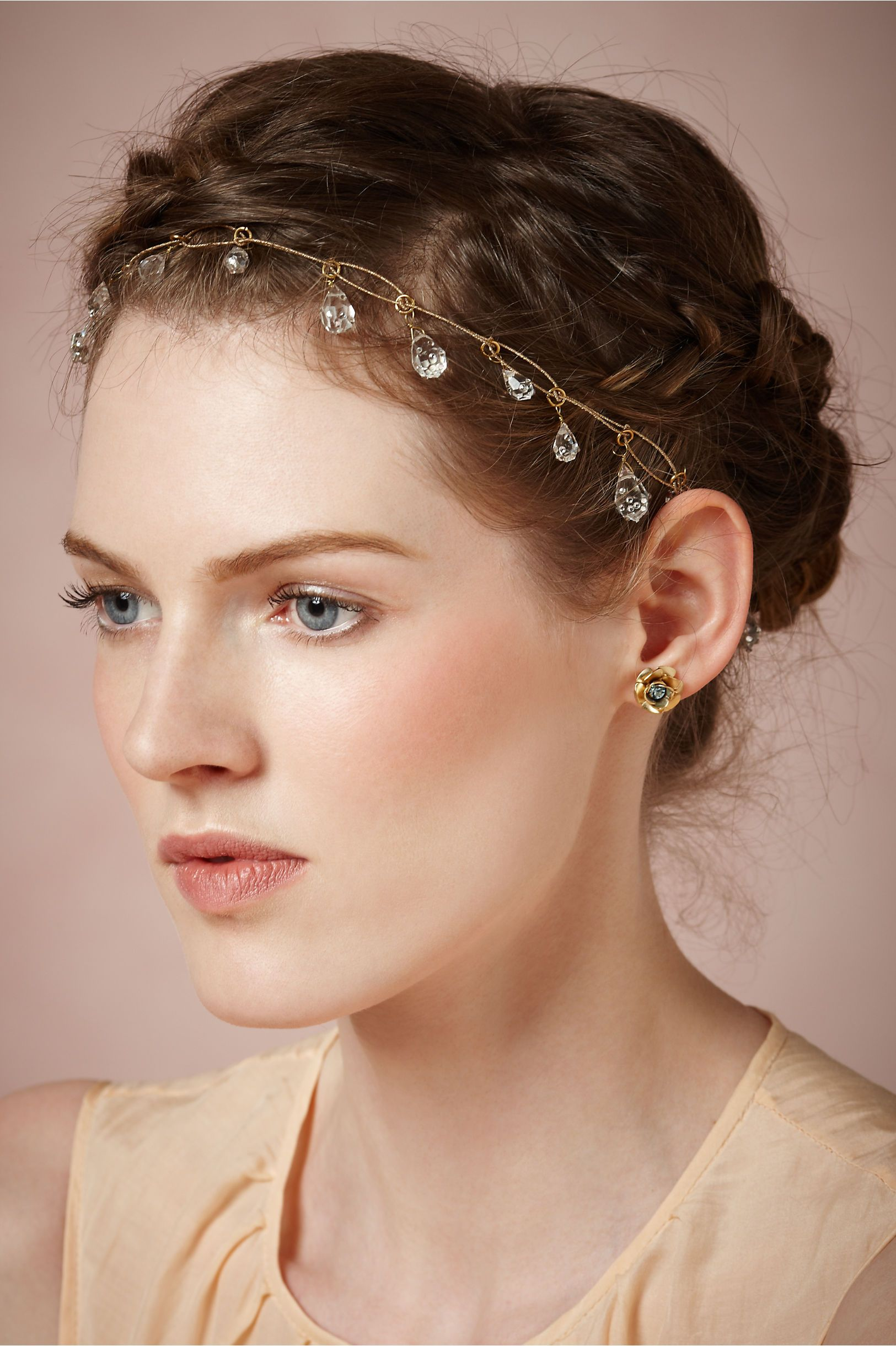 Dewdrops halo in shoes u accessories headpieces at bhldn once upon