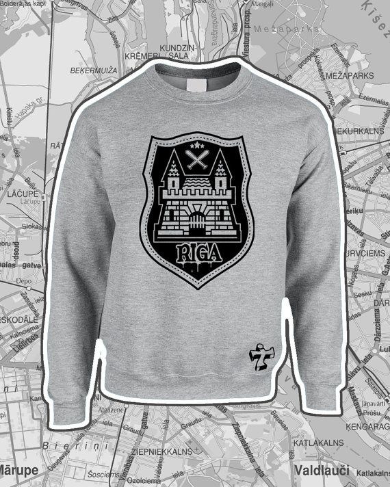 Riga City theme Limited Edition Screenprinted by TheThinkTwice
