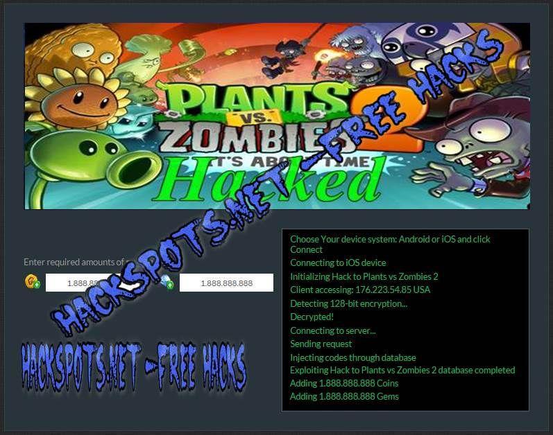 Plants Vs Zombies 2 Hack Plants Vs Zombies Hacks Zombie 2