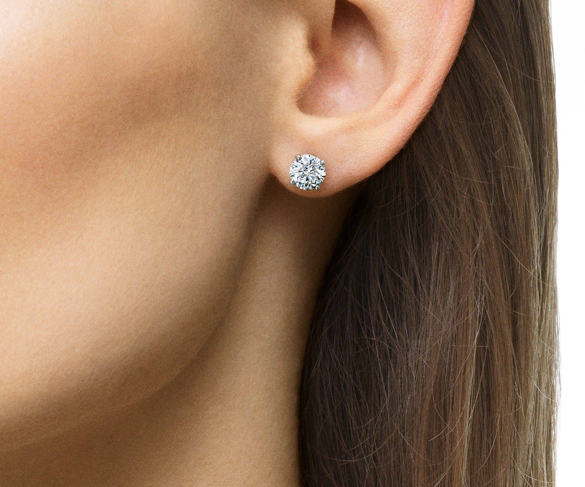 0.20 Ct Round Cut Simulated Diamond Bar Stud Earrings 925 Sterling Silver