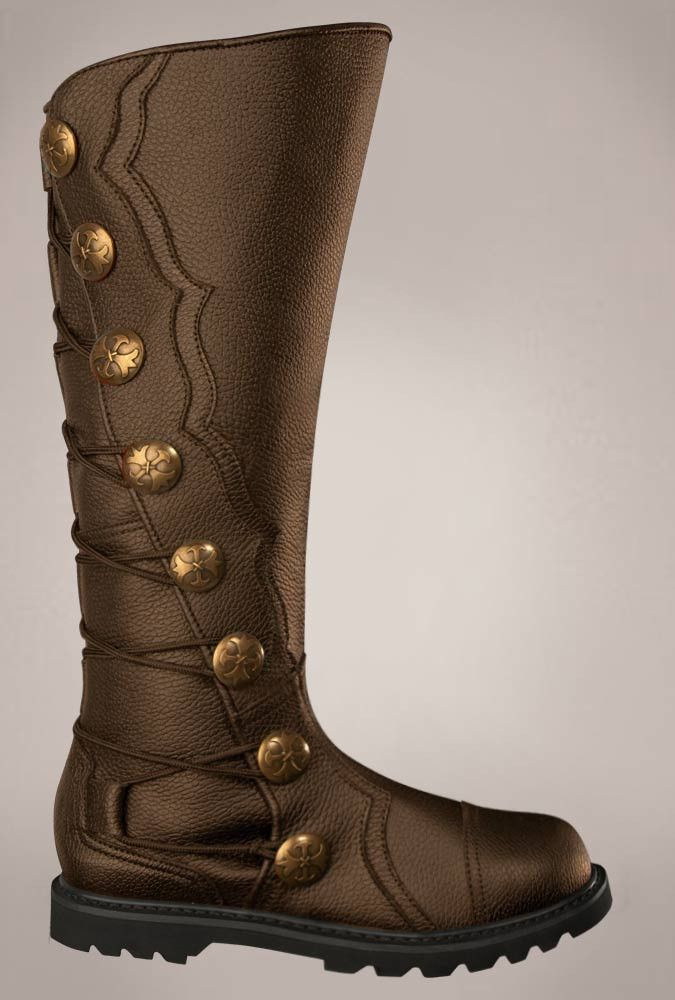 Men's Brown Leather Knee High Renaissance Boots 1512-BR , Boots - House of Andar, House of Andar  - 1