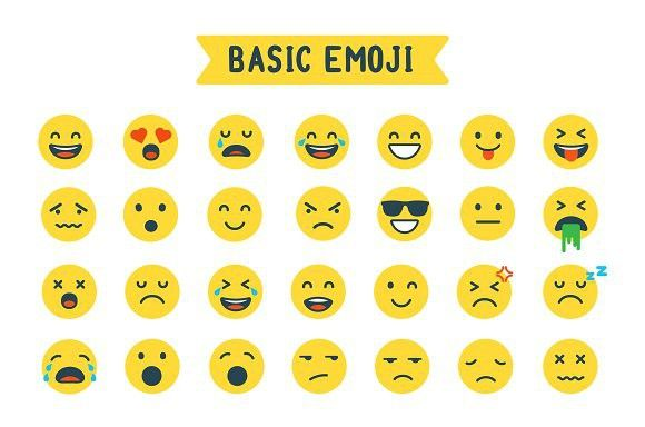 Basic Emoji Emoji Set Emoji Basic