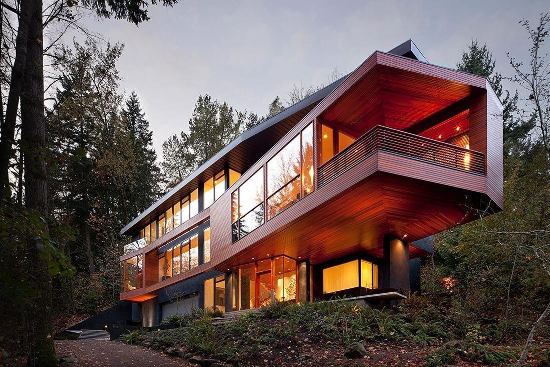 The Hoke House Twilight S Cullen Family Home Newhome Design Mytrends Arsitektur Arsitektur Modern Rumah Arsitektur