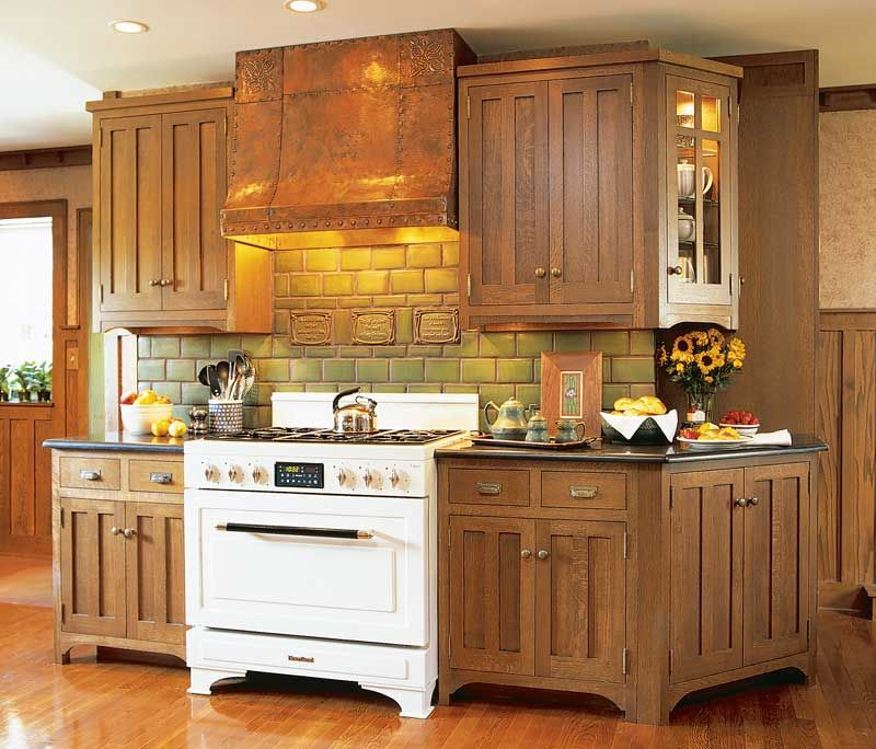 Prairie Style Kitchen Cabinets: Arts & Crafts Gallery Page 2