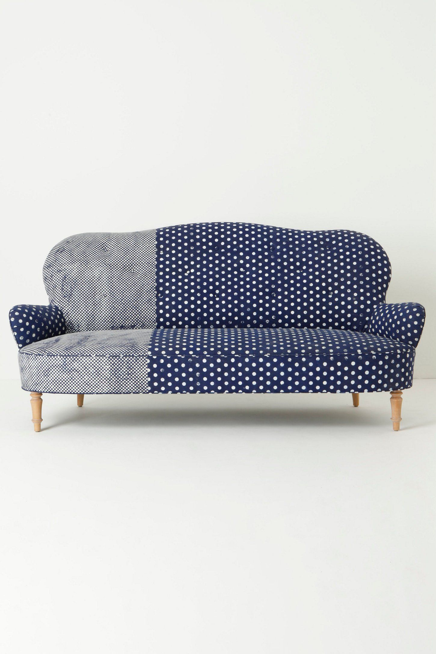 Contrast Couch Upholstery Inspiration   Anthropologie Mathilde Sofa In  Dots Delicacies