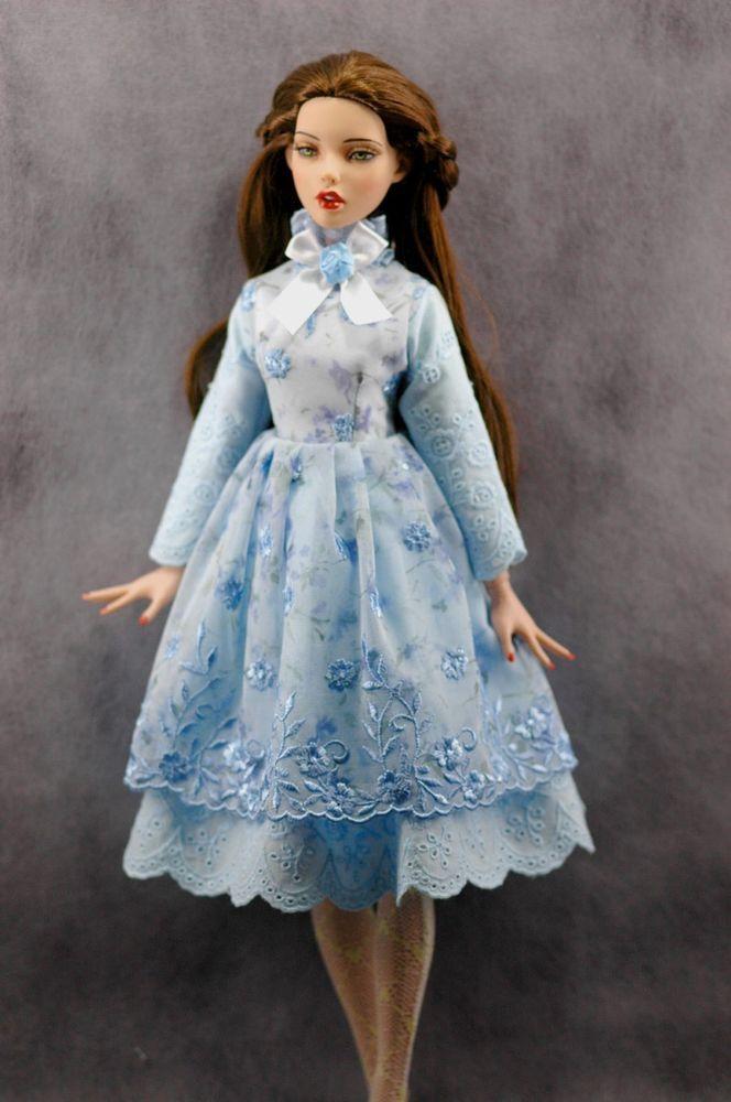 "TONNER DEJA VU 16"" doll clothes sweet floral vintage dress"