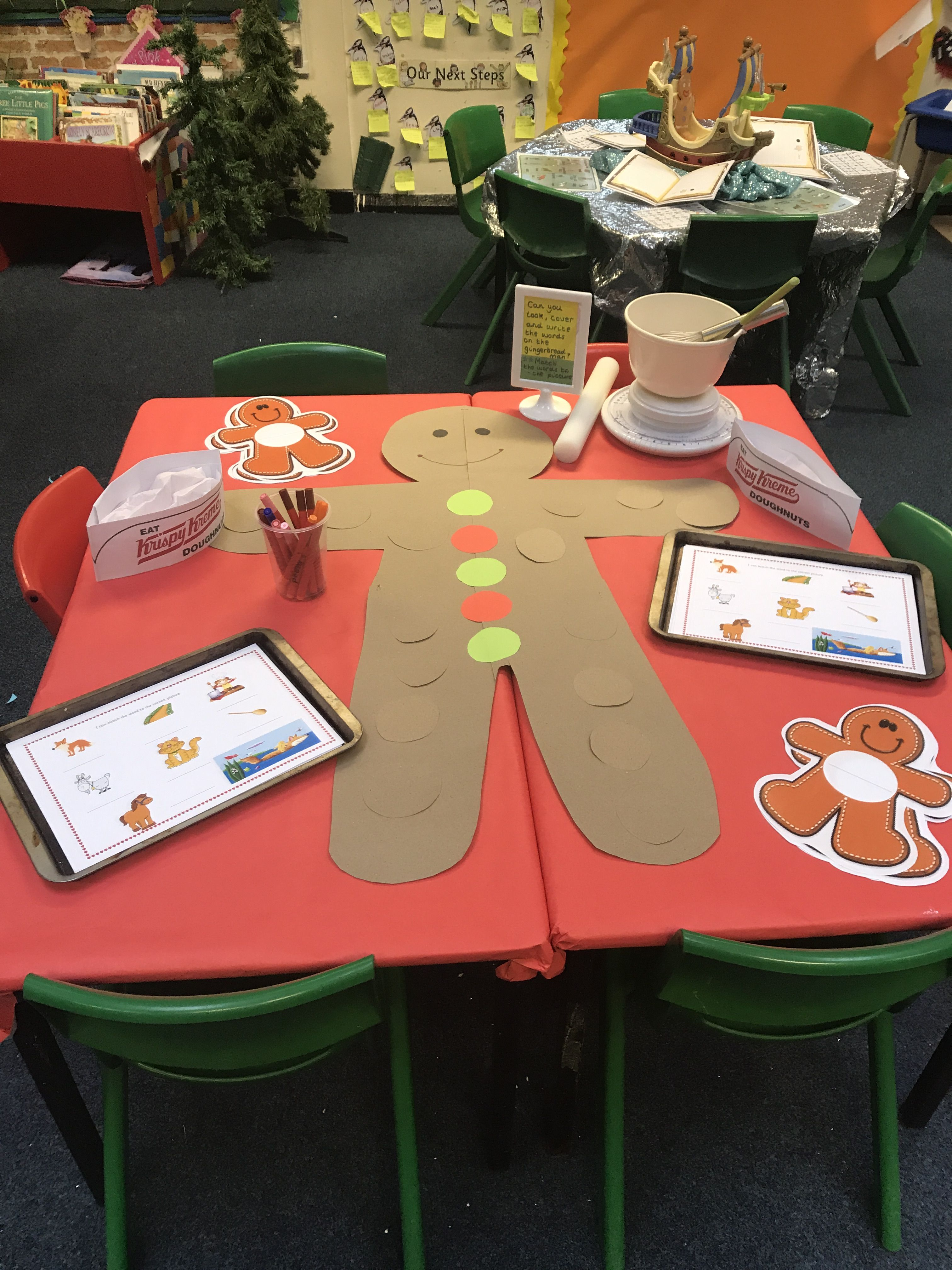 gingerbread man eyfs  look  cover and write  chdn choose a