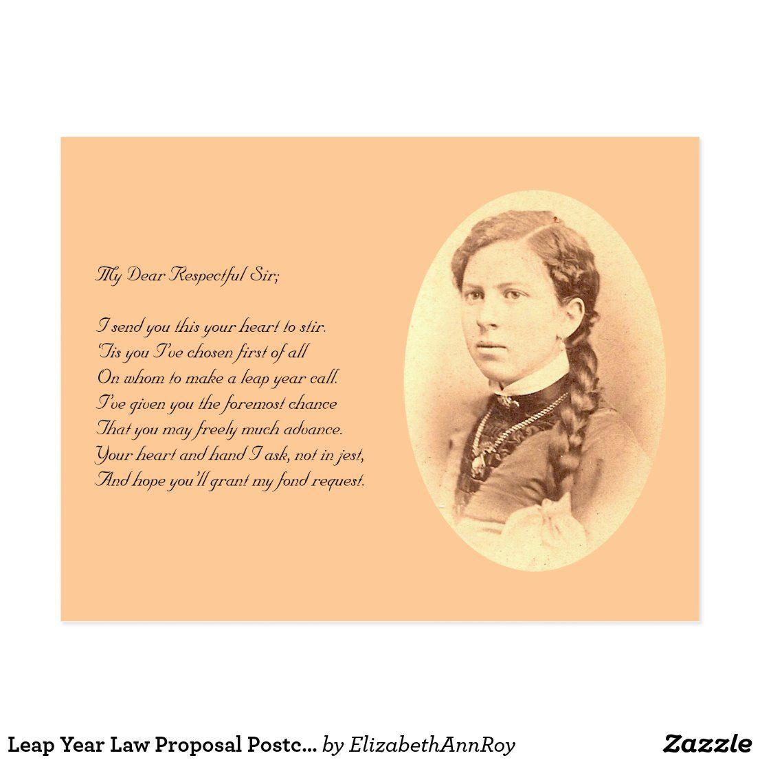 Leap Year Law Proposal Postcard