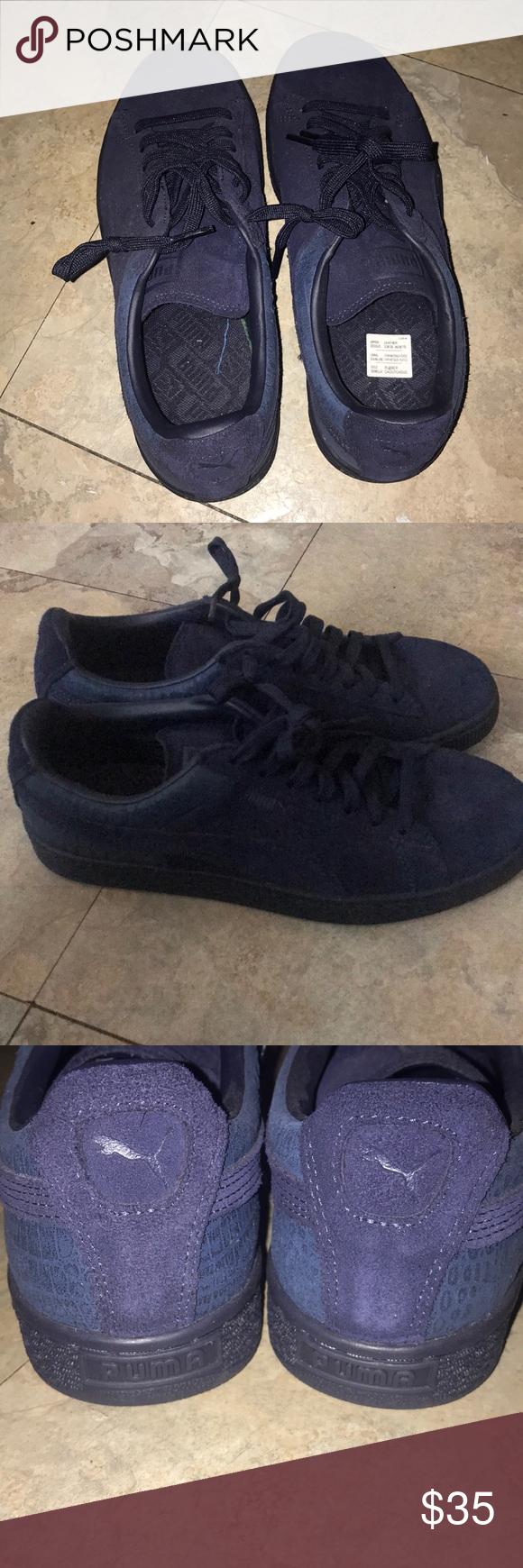 Navy blue puma sneakers   Puma sneakers