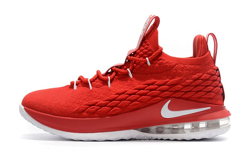 super popular 40c82 80cc9 New Nike LeBron 15 Low University Red White Mens Basketball Shoes