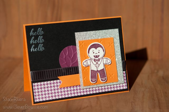 Hello, Dracula card Cookie Cutter Halloween Stamp Set Staci Rivera - halloween catalog