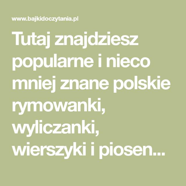 Tutaj Znajdziesz Popularne I Nieco Mniej Znane Polskie
