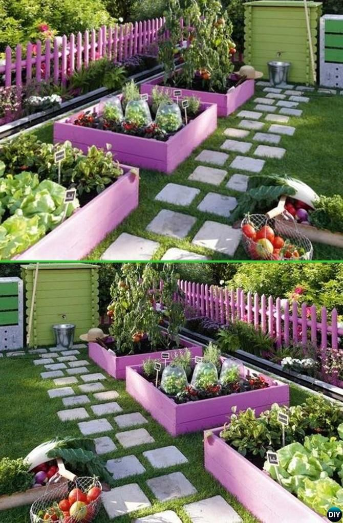 20 creative garden bed edging ideas projects instructions for Flower beds out of pallets