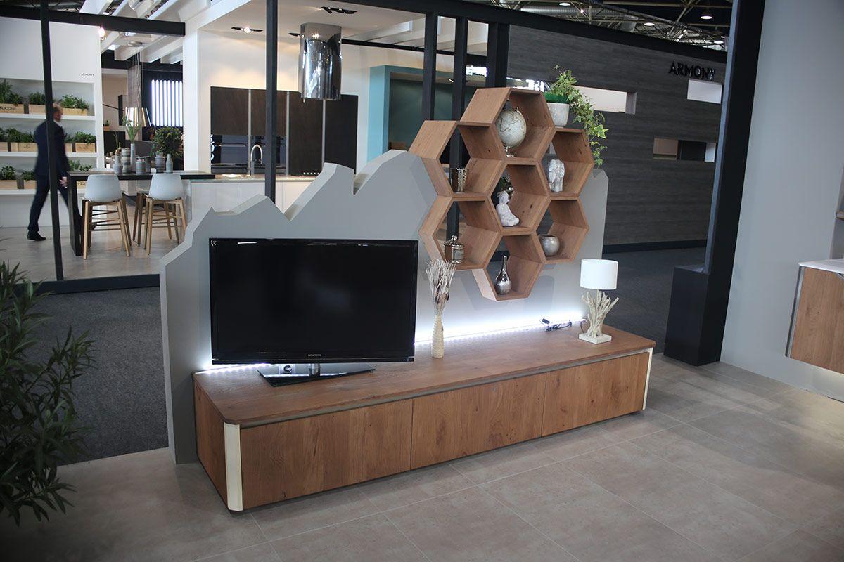 Meuble Tv Hexagonal System Pierre Furnemont Design Studio Tv  # Meuble Tv Pour Studio