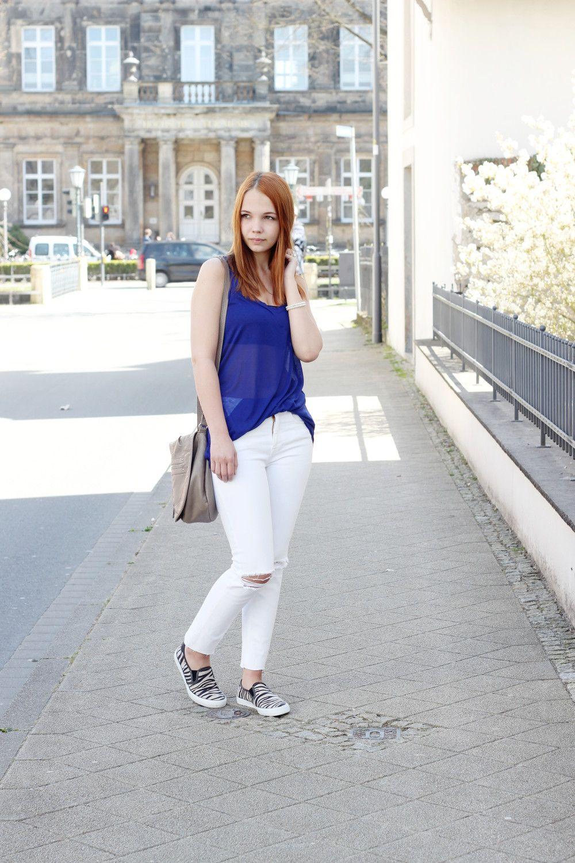 wie kommt man Größe 7 großer Rabatt Royal Blau & Weiß | Outfit Ideen | Outfit, Outfit ideen und ...