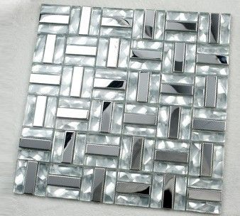 Gl Mosaic Kitchen Backsplash Tile Stainless Steel Tiles For Swimming Pool Ssmt080 Crystal White