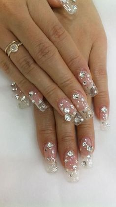 Gel Nail Designs with Gems Sparkle is dependably an all-rounder or multi profited nail structure as the looking's you need predominantly is always conceivable with these nail plans in the meantime. For example hot sentimental tasteful insane etc. In this way not thinking about cost select any of these perfect