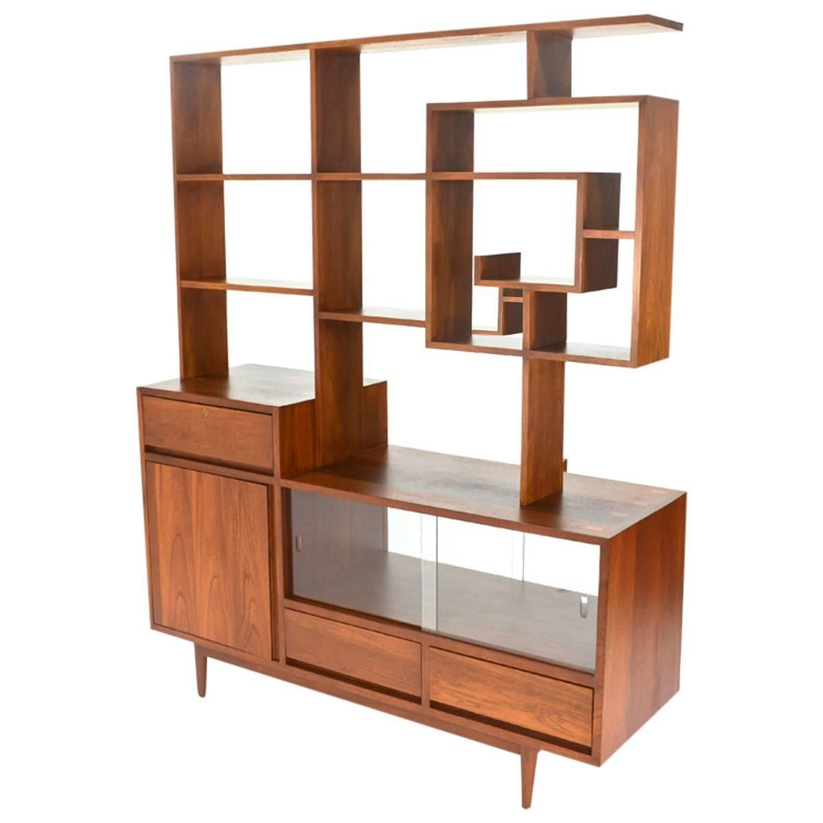 Mid Century Basement: Incredible One Of A Kind Room Divider Or Credenza In 2019
