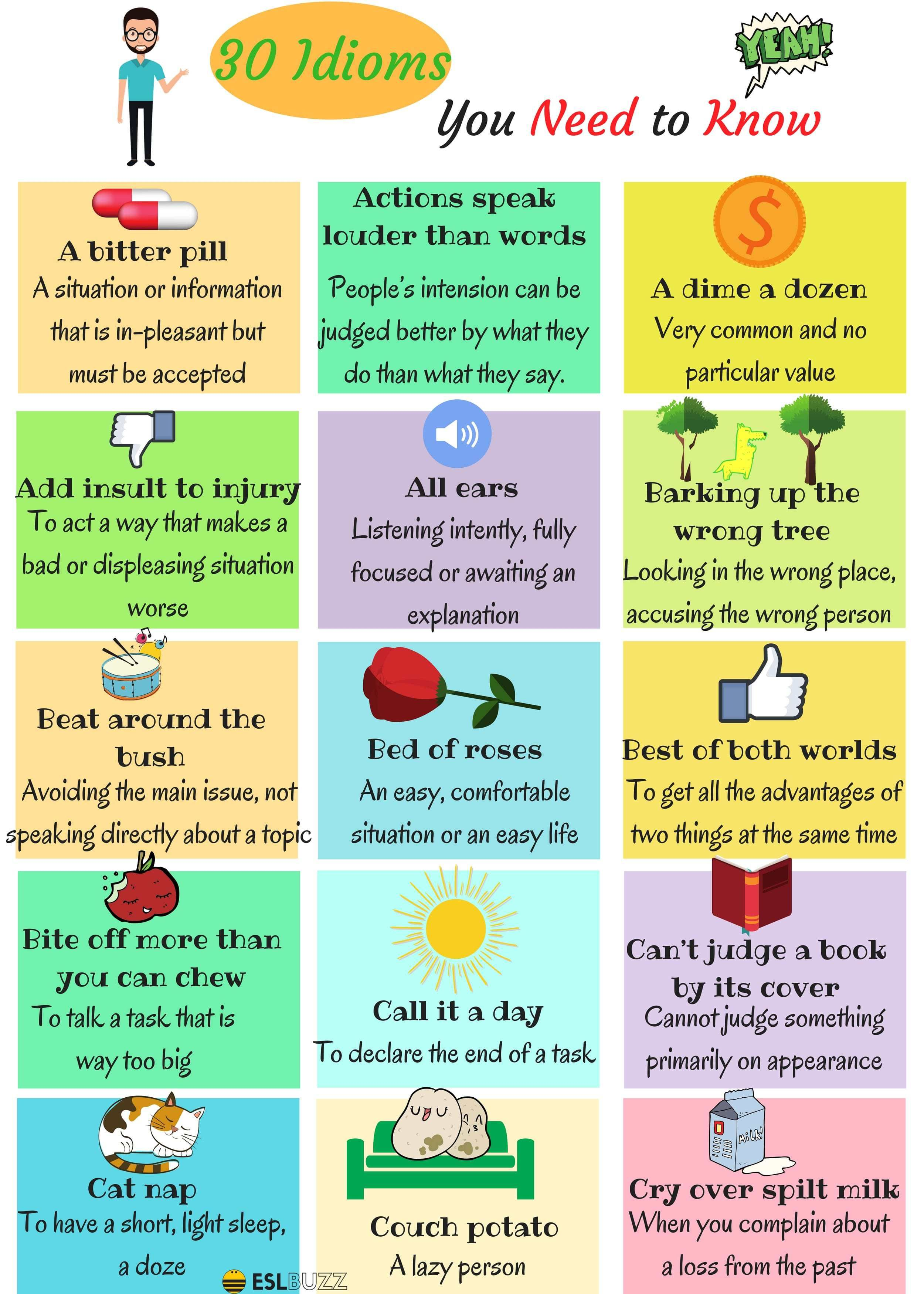 The 30 Most Useful Idioms And Their Meaning