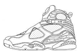 Image Result For Jordan 8 Coloring Pages Jordan Retro Jordan