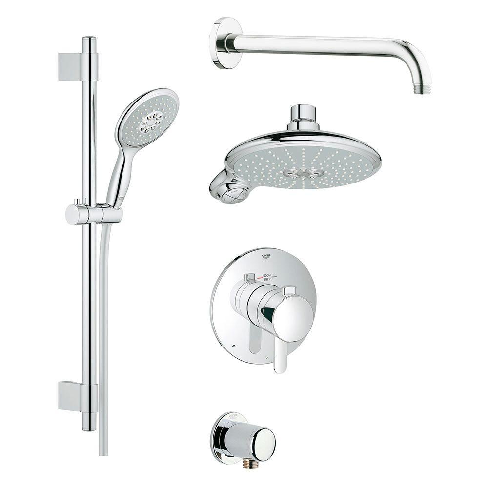 Grohe Grohflex Cosmopolitan Shower Set 4 Spray Shower System In