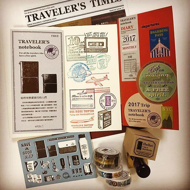 ・ #travelersnotebook  #トラベラーズノート #travelersfactory  #トラベラーズファクトリー #東京メトロ #パンナム #マスキングテープ #手帳#planner #文房具 #文房具好き ・ トラベラーズ ファクトリーで 買ったもの。 来年の手帳に スタンプ沢山 押してきた!
