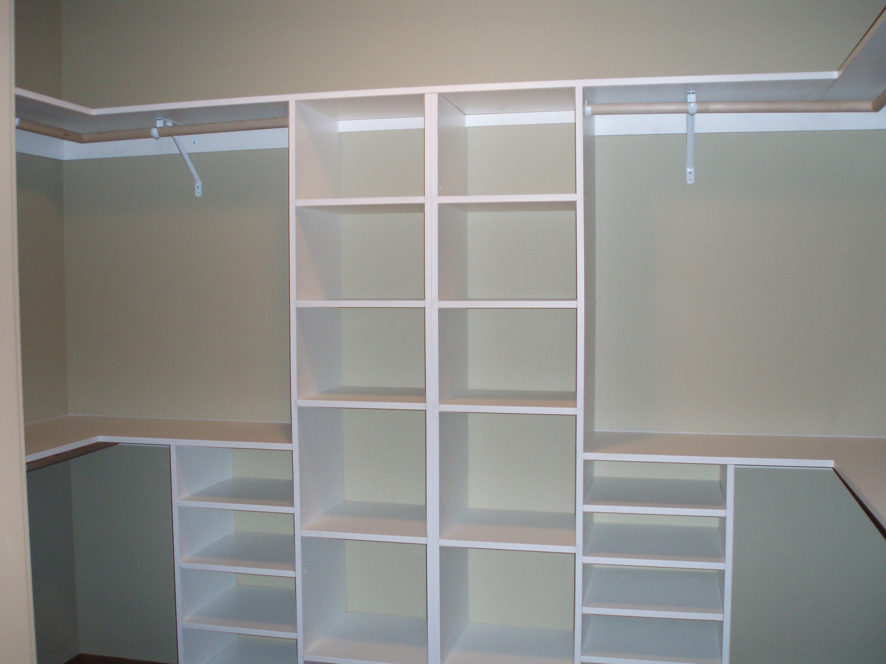 Astounding white hardwood materials handmade modern small for How to design closet storage