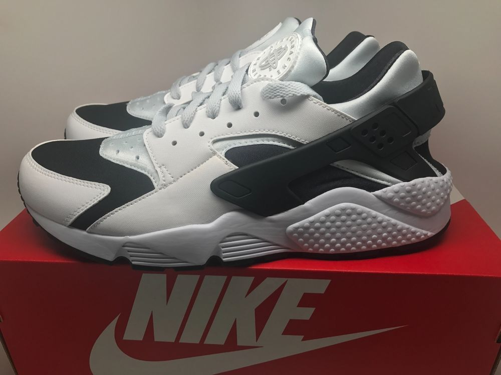 innovative design a194f d2482 NIKE AIR HUARACHE RUN WHITE PURE PLATINUM BLACK 318429 104 MENS SIZE 12   Nike  BasketballShoes