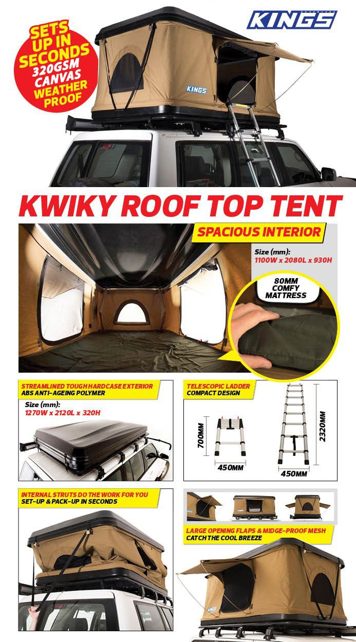 Adventure Kings Roof Top Tent Installation adventure kings 'kwiky' pop up roof top tent | roof top tent