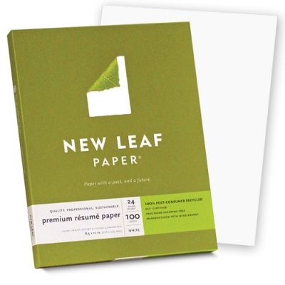 1585 New Leaf Paper Premium Resume Paper White Sold By - Southworth-resume-paper