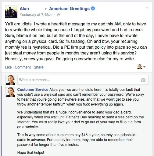 Fake Customer Service Page Responds To Real Customer Complaints On