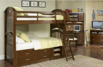 Legacy Classic Kids Furniture Bunk Beds with Store available at Lauter's Fine Furniture  #KidsBunkBeds #BunkBedswithStorage