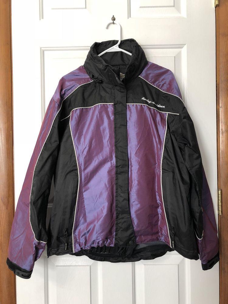 Harleydavidson Hd Raingear Purple Iridescent Ebay Motorcycle Ironbutt Reflective Rare Women S Harl Denim Coat Women Coats For Women Winter Coats Women