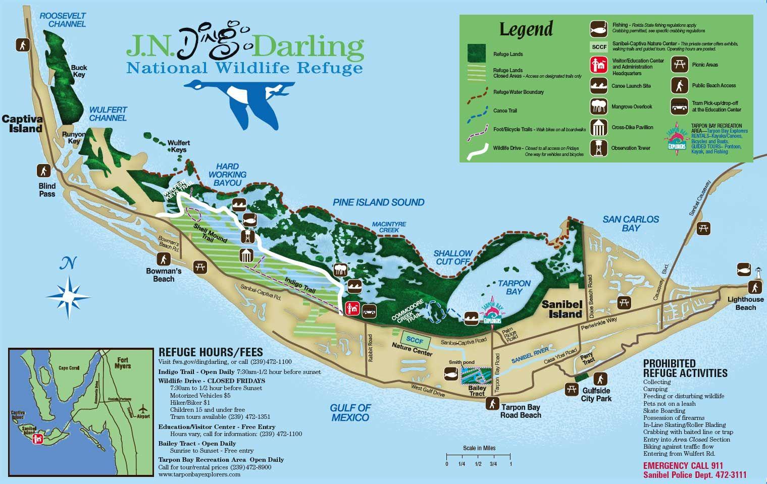 Sanibel Island Map: Sanible Island, Floirda